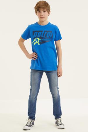 T-shirt met logo hardblauw