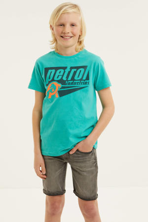 T-shirt met logo 6136pepper green