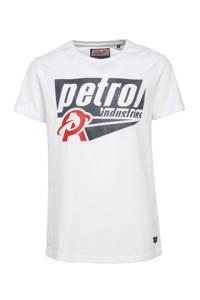 Petrol Industries T-shirt met logo wit, Wit