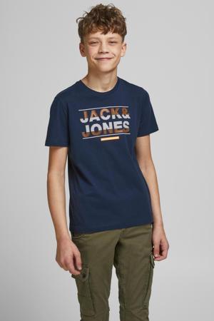 T-shirt Mount met logo donkerblauw