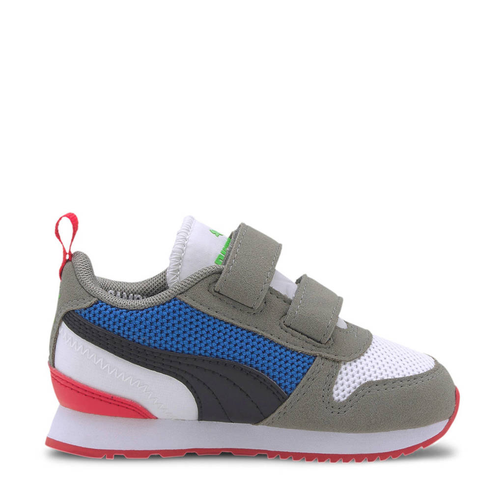 Puma R78 V Inf sneakers wit/grijs/rood, Wit/grijs/rood