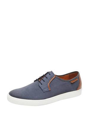 Quatro  nubuck sneakers blauw