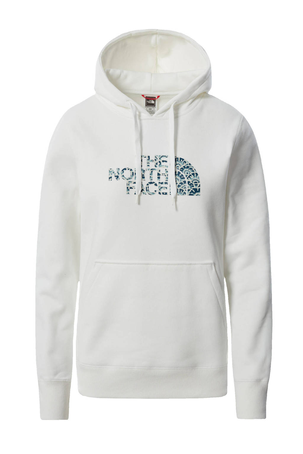 The North Face hoodie Drew Peak wit/blauw, Wit/blauw