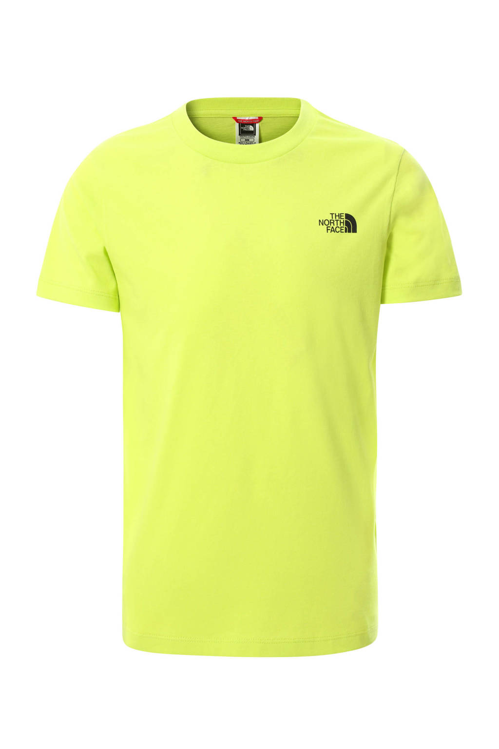 The North Face unisex T-shirt Simple Dome groen, Geel