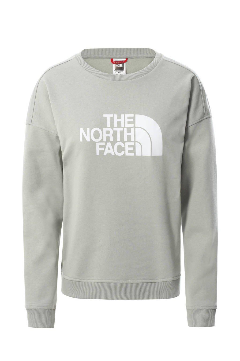 The North Face sweater Drew Peak lichtgrijs/wit, Lichtgrijs
