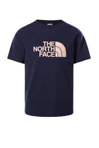 The North Face unisex T-shirt Easy Boyfriend donkerblauw, Donkerblauw
