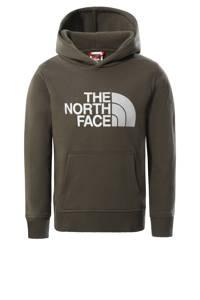 The North Face unisex hoodie Drew Peak groen/wit, Groen/wit
