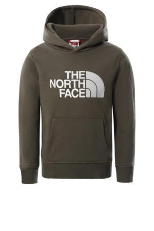 unisex hoodie Drew Peak groen/wit