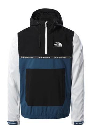 outdoor anorak blauw/wit/zwart