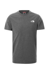 The North Face unisex T-shirt Simple Dome grijs, Grijs