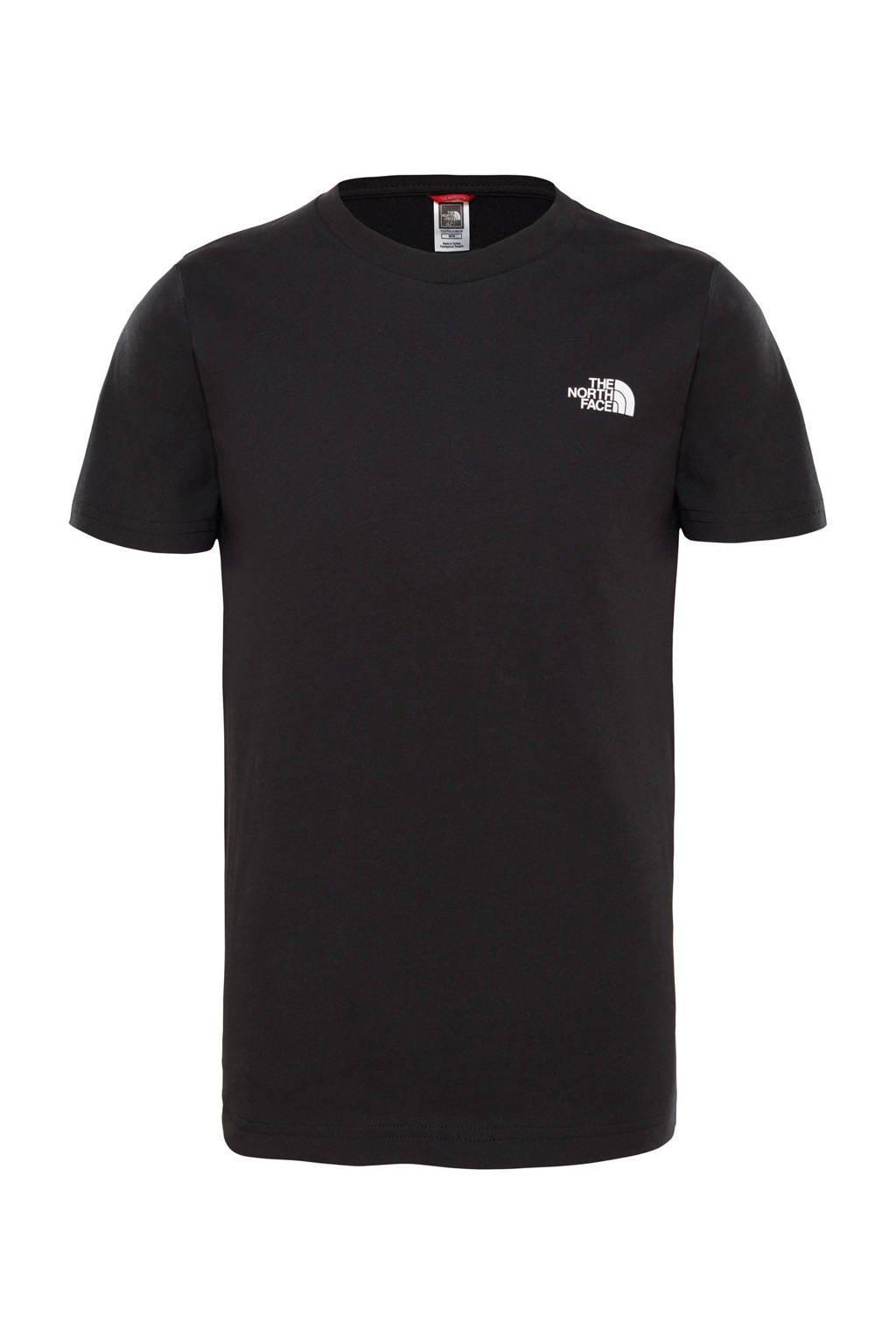 The North Face unisex T-shirt zwart, Zwart