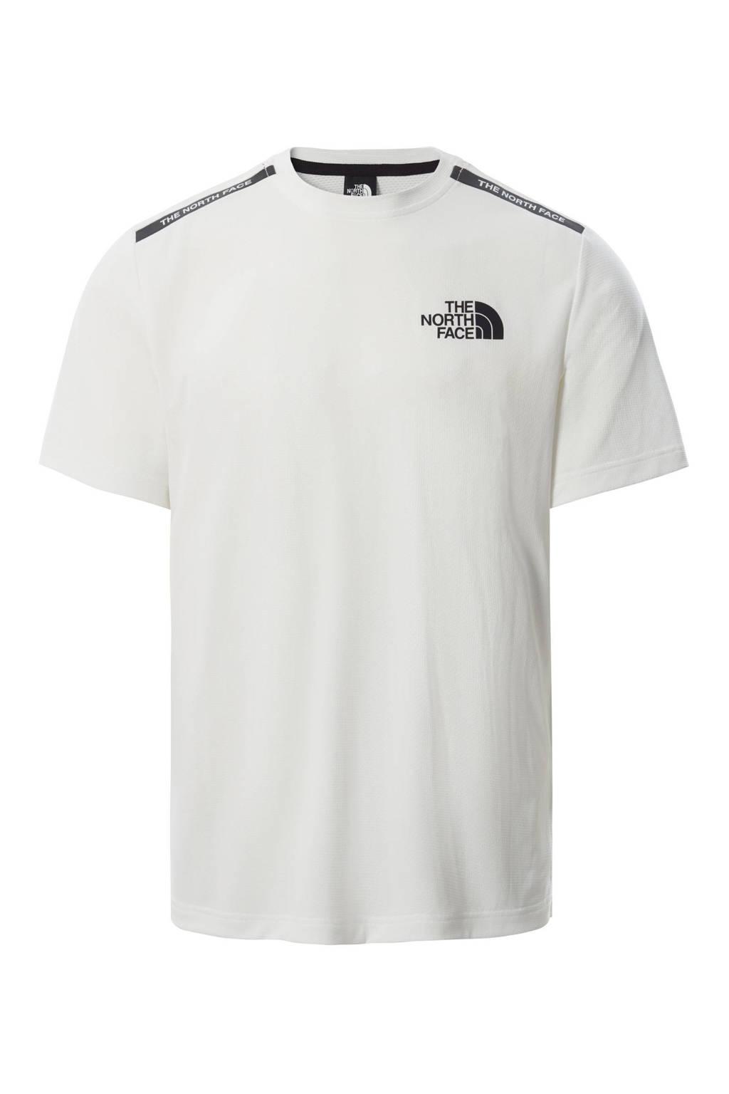 The North Face outdoor T-shirt wit/zwart, Wit/zwart