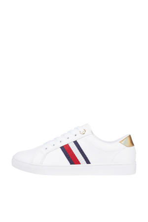 TH Corporate Cupsole Sneaker  leren sneakers wit