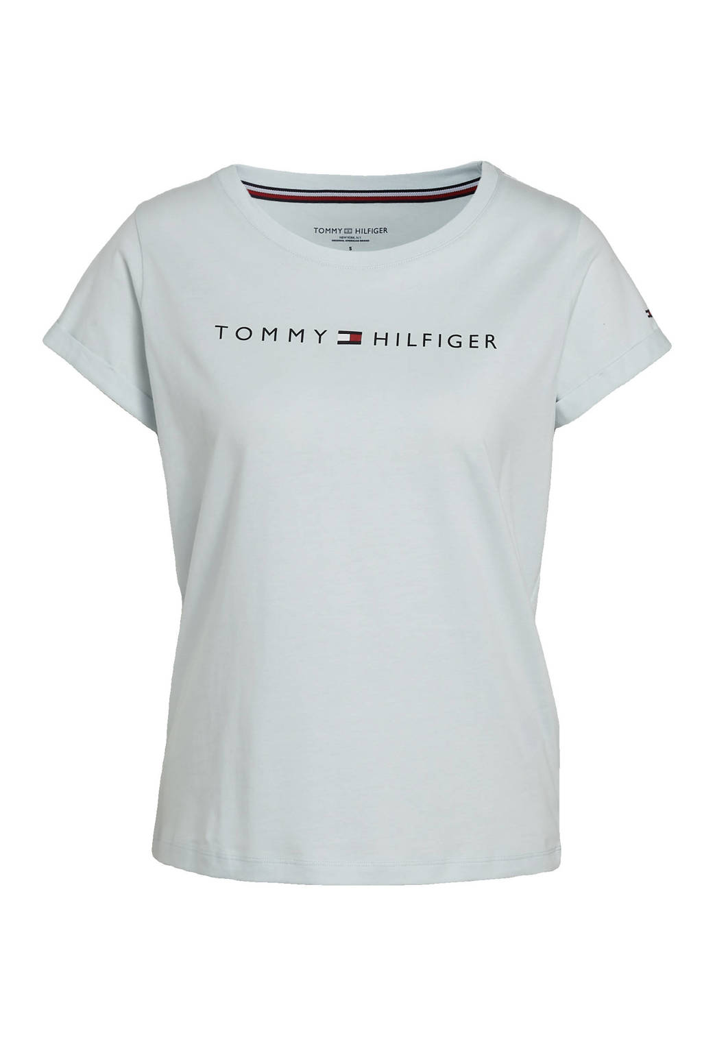 Tommy Hilfiger T-shirt met printopdruk lichtblauw, Lichtblauw
