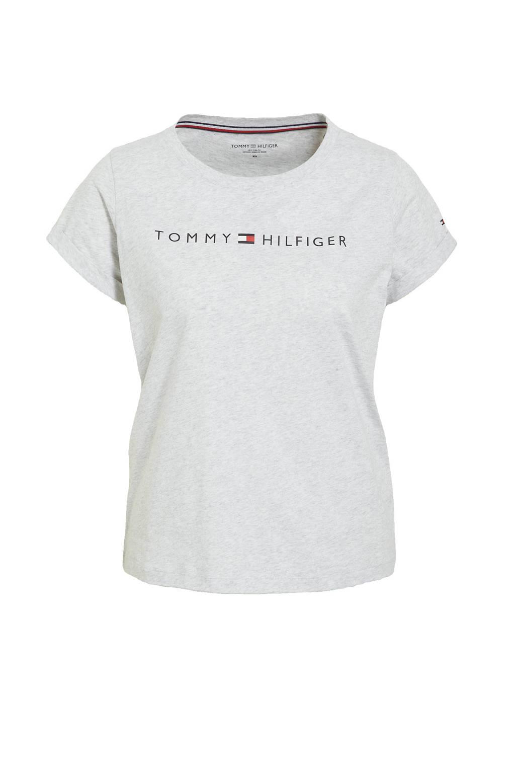 Tommy Hilfiger T-shirt met printopdruk grijs, Grijs