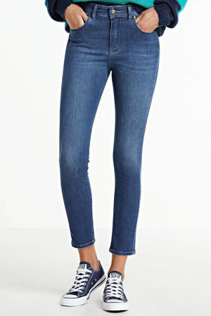 high waist skinny jeans Celia teal stone