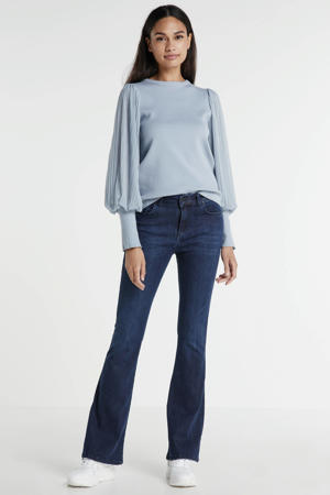 flared jeans rinse blue