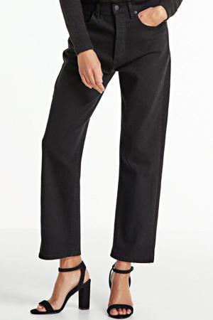 high waist loose fit jeans Dana zwart