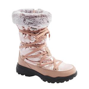 snowboots met imitatiebont roze