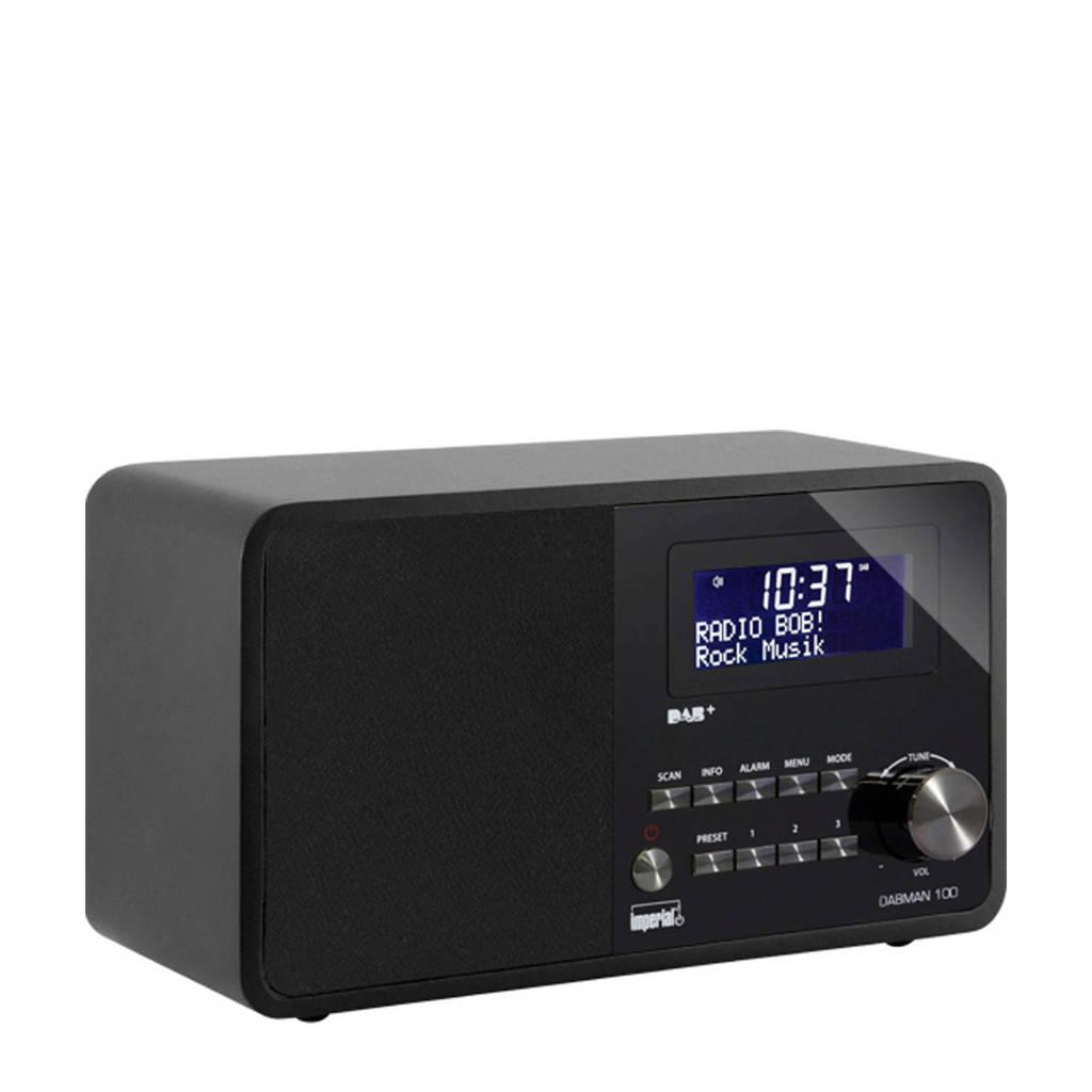 Imperial Dabman 100 DAB+ radio (zwart), Zwart