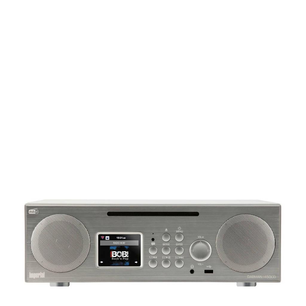 Imperial DABMAN I450 CD DAB+ radio, Zilver, wit