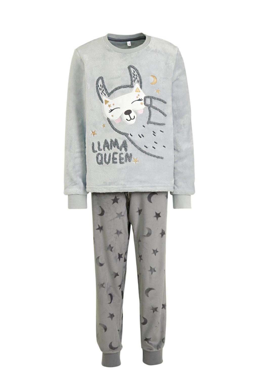 C&A Here & There pyjama grijs, Grijs