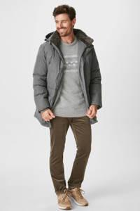 C&A Westbury gemêleerde trui met wol grijs, Grijs