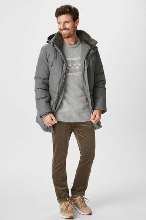 gemêleerde trui met wol grijs