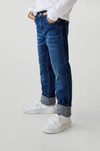 Mango Kids loose fit jeans middenblauw