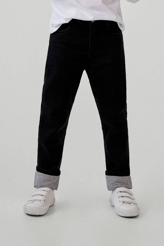 Mango Kids loose fit jeans donkergrijs, Donkergrijs