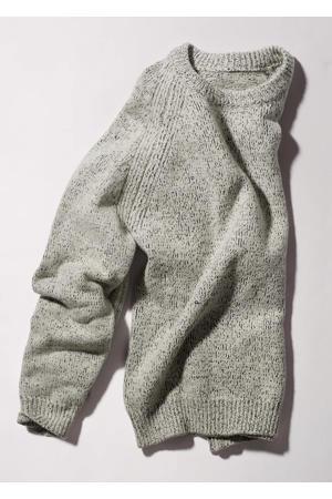gemêleerde trui met wol beige