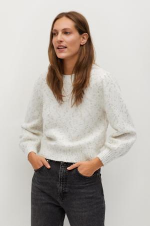 gebreide trui met glitters wit