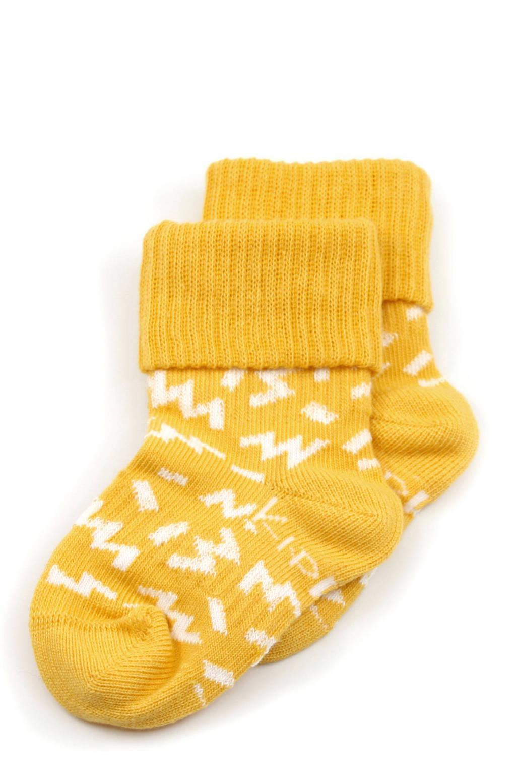 KipKep blijf-sokken - set van 2 geel, Geel