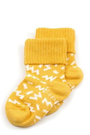 blijf-sokken - set van 2 geel