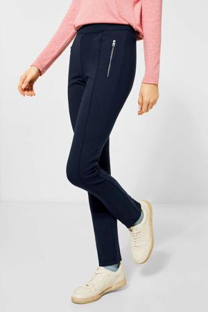 high waist skinny tregging Vicky donkerblauw