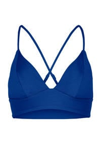 ONLY bikinitop Bobby met ribstructuur donkerblauw, Donkerblauw