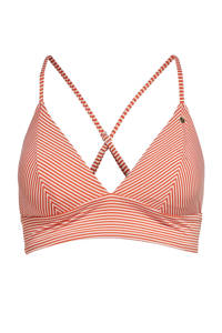 ONLY gestreepte bikinitop Kitty rood/wit, Rood/wit