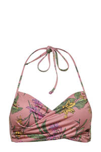 ONLY bikinitop Julie met all over print oudroze, Oudroze