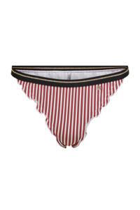 ONLY gestreept brazilian bikinibroekje Ibiza rood/wit, Rood/wit
