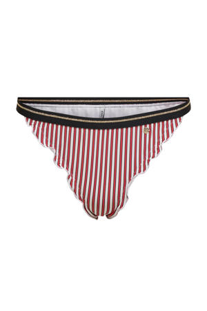 gestreept brazilian bikinibroekje Ibiza rood/wit