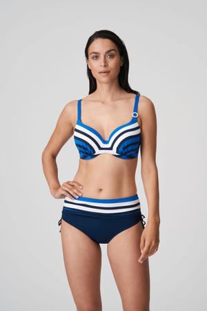 high waist bikinibroekje Polynesia blauw/wit/zwart