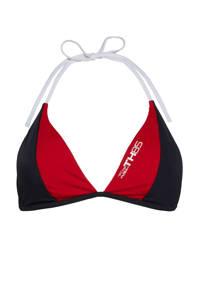 Tommy Hilfiger triangel bikinitop rood/donkerblauw, Rood/donkerblauw