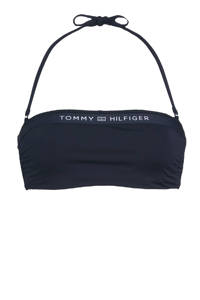 Tommy Hilfiger strapless bandeau bikinitop donkerblauw, Donkerblauw