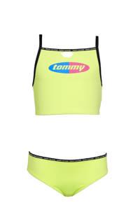 Tommy Hilfiger crop bikini met logo geel, Geel