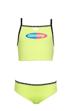 crop bikini met logo geel