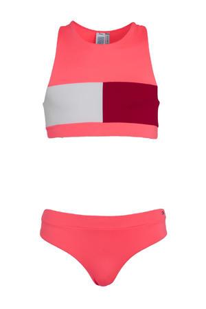 crop bikini roze