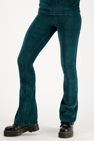 fluwelen flared legging Sahara new fir green