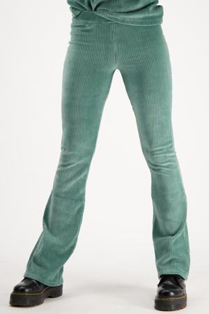 fluwelen flared legging Sahara new misty green