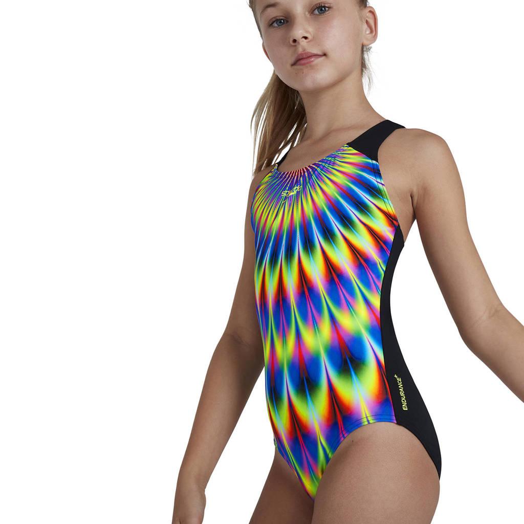 Speedo Endurance+ sportbadpak Digital Placement blauw/geel/zwart, Blauw/geel/zwart