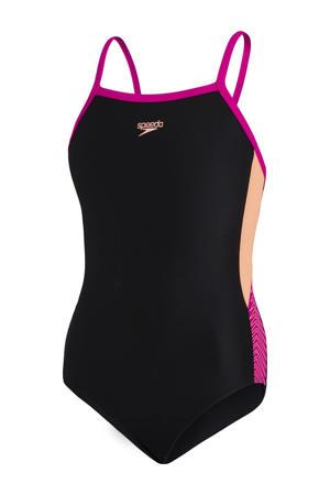 Endurance10 sportbadpak Dive Thinstrap zwart